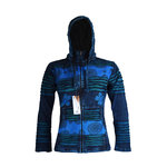 Nepal KC Kapuzenjacke mit Fleece in blau