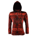 Nepal KC Kapuzenjacke mit Fleece in rot