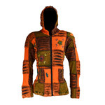 Nepal Patchwork Jacke - orange mix